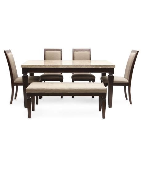 hometown bliss marble top 6 seater dining table buy