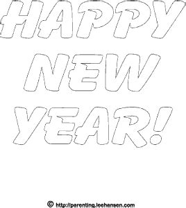 printable writing happy new year printable happy new year letters for coloring or