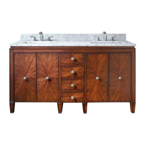 avanity brentwood 61 inch w vanity in walnut finish with