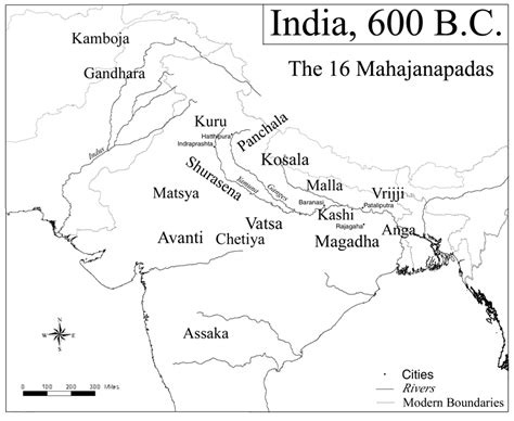 Blank Outline Map Of Ancient India by Map Of India 600 Bce Illustration Ancient History Encyclopedia