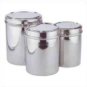 Stainless Steel Canisters Kitchen by Stainless Steel Kitchen Storage Canisters Set Of Three