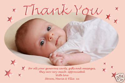Thank You Cards For Christening Gifts - personalised christening thank you cards personalised baptism thank you cards