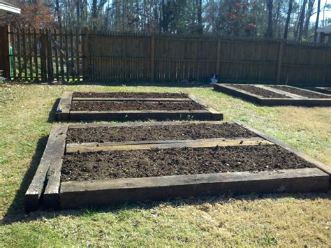 raised garden beds out of railroad ties search