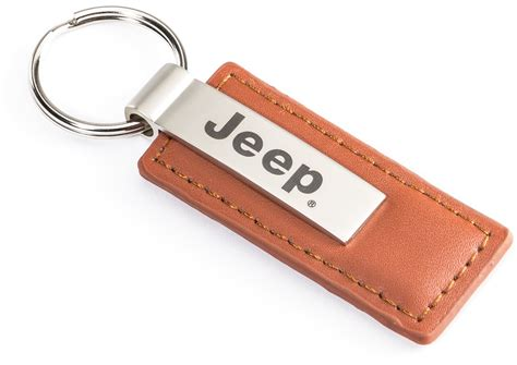 Brown Jeep Automotive Gold Kc1541jee Brown Leather Jeep 174 Logo