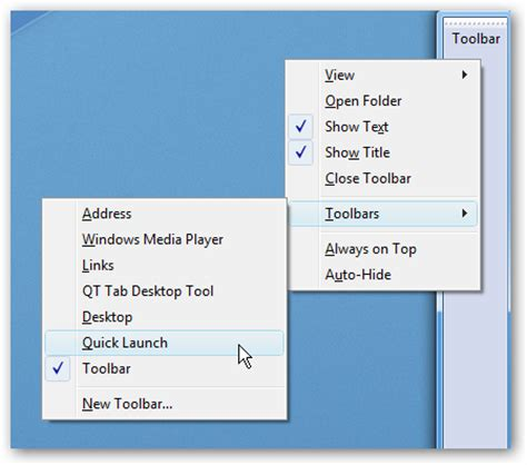 Windows Vista And Office 2007 Launches And We Try And Launch With It by Dock Launch Or Address Toolbar To Desktop In Vista
