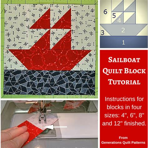 sailboat quilt block patterns sailboat quilt block pattern 4 quot 6 quot 8 quot and 12 quot sizes
