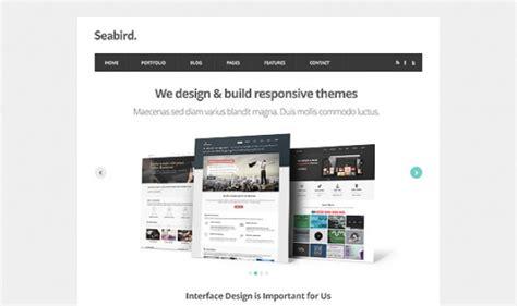 Kostenlose Vorlage Homepage Seevogel Homepage Html5 Vorlage Psd Der Kostenlosen Psd