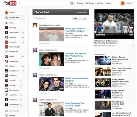 new youtube layout october 2012 youtube changes its design to look more like google plus