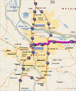 i 84 oregon map interactive i 84 portland or map