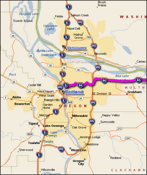 map of oregon highway 84 interactive i 84 portland or map