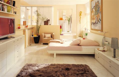 interior design decoration warm bedroom interior design with beautiful wall artwork