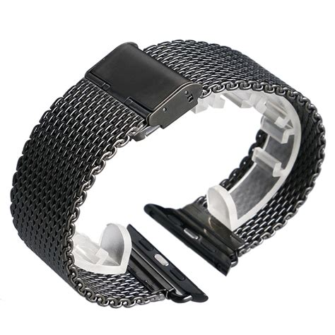 Chronoforce 5273ms Silver Black Original stainless steel for original apple band black silver mesh for iwatch high