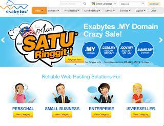 exabytes hosting harga domain rm  setahun irsah