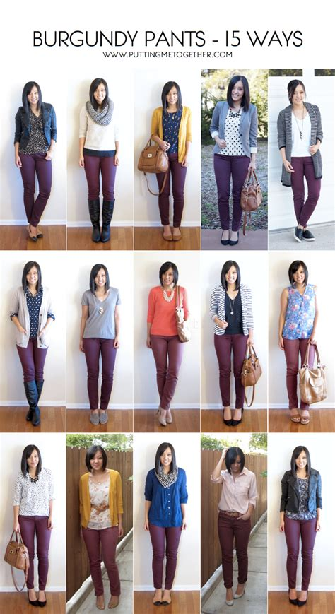 top 15 casual everyday wear appropriate pantsuits 2015 15 ways to wear burgundy or maroon pants putting me together