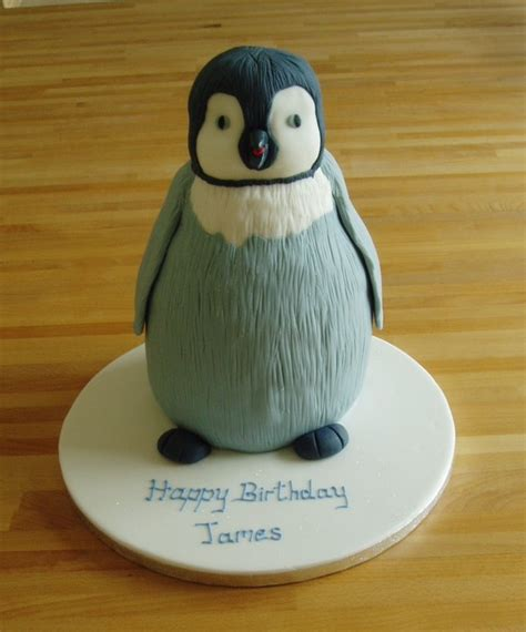 Home Design Decorating Ideas Penguin Cake Iced Gem Cakes