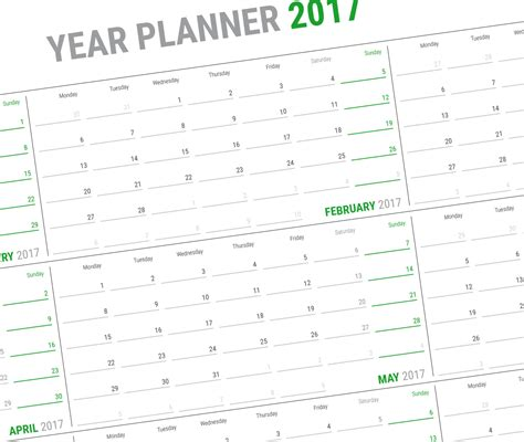 daily planner 2018 yearly wall planner agenda template schedule planner template for 2018 year 12 months on one