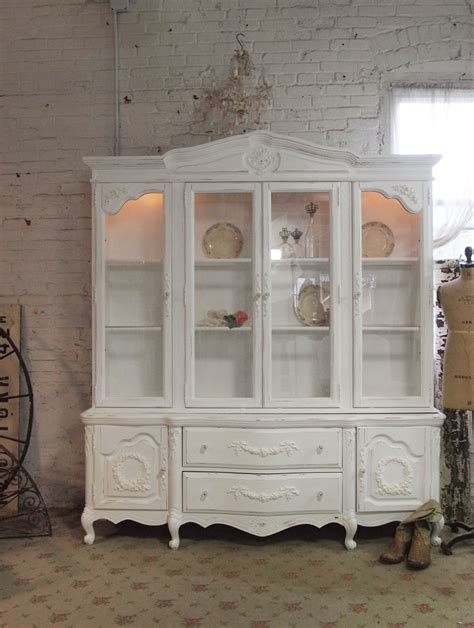 small shabby chic china cabinet shabby chic cabinet bukit