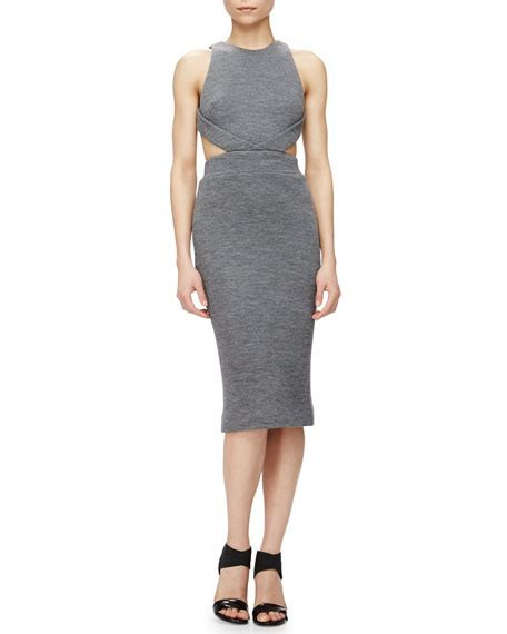 Cutout Sheath Knit Dress cushnie et ochs cutout knit sheath dress