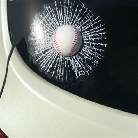 Sale Sticker 3d Besar 3d baseball hit car sticker windshield window glass adhesive decal sale banggood sold out