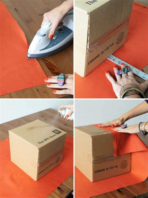 diy upholstered storage boxes recycle crafts