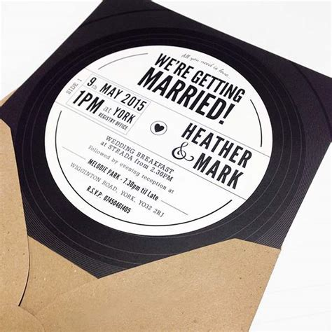 25 Unique Wedding Invitations You Wish You Had Thought Of Vinyl Record Invitation Template