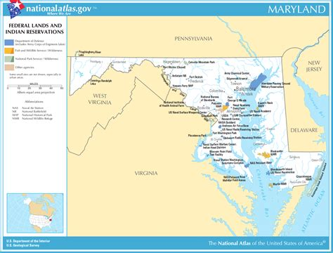 indian reservations usa map map of maryland map federal lands and indian reservations