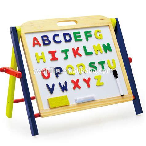 Mainan Edukasi Magnetic Learning Drawing Board 2 In 1 easel wow