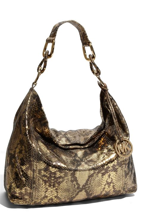 Michael Kors Id Chain Python Shoulder Bag by Michael Michael Kors Oversized Id Chain Large