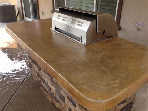 concrete countertops acid stained concrete countertops with mat finish sealer