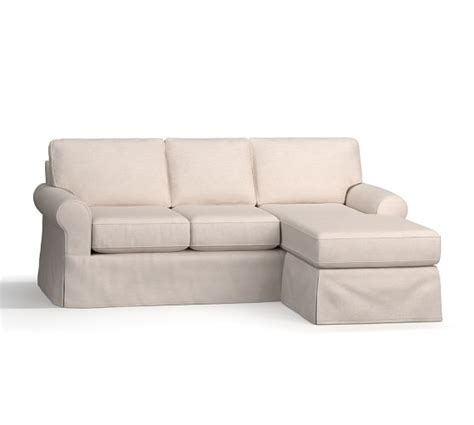 Roll Arm Sectional Sofa by Buchanan Roll Arm Slipcovered Reversible Chaise Sectional Pottery Barn