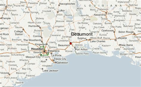 texas map beaumont beaumont location guide