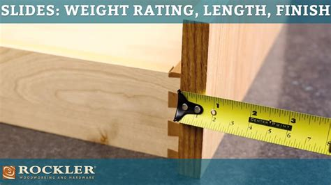 What Length Drawer Slides Do I Need by Drawer Slide Tutorial Weight Rating Length And Finish