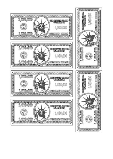 million dollar bill template fillable one million dollar bill template printable pdf