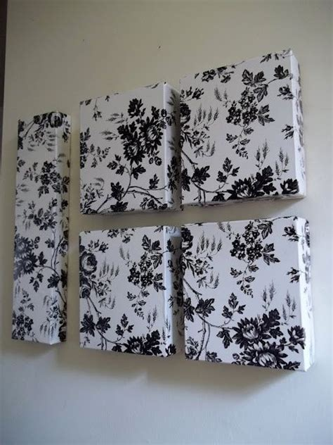 dollar tree contact paper and used boxes wall craft