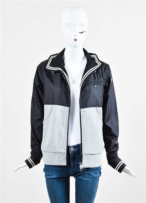 Jaket Jiper Black List Grey 1 moncler black and grey knit zip up windbreaker jacket luxury garage sale