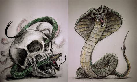 skull and snake tattoo skull and snake designs by tamitw on deviantart