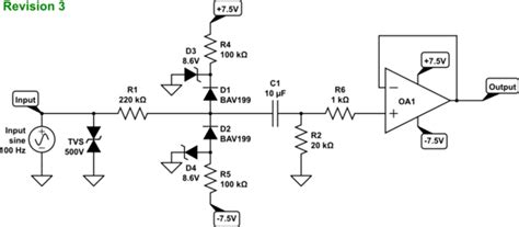 bav99 esd diode op is this cling voltage divider for a high impedance input a robust design