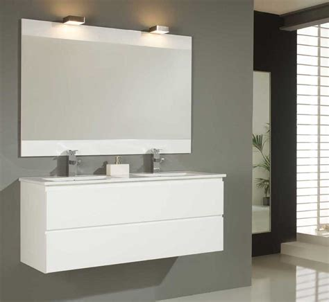belo 120 bathroom furniture white modern suspended and measures 121x46