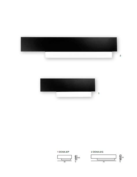 gea illuminazione gea luce applique led doha ap nero