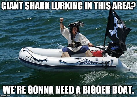 we re gonna need a bigger boat pirates of the caribbean pirate attemps to avoid megaladon imgflip