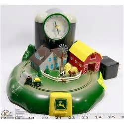 deere farm alarm clock with moving