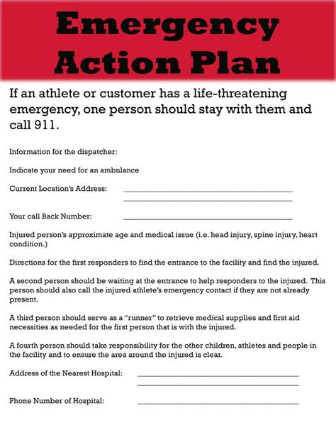 Emergency Action Plan Template Tristarhomecareinc Emergency Preparedness Procedure Template