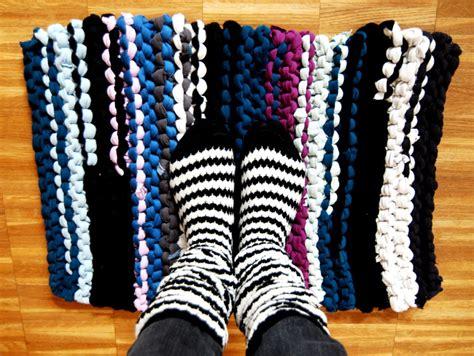 teppich stricken schoenstricken de teppich aus t shirtgarn stricken