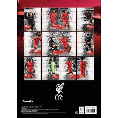 liverpool official 2017 calendar 1785492209 liverpool calendars 2019 on ukposters europosters