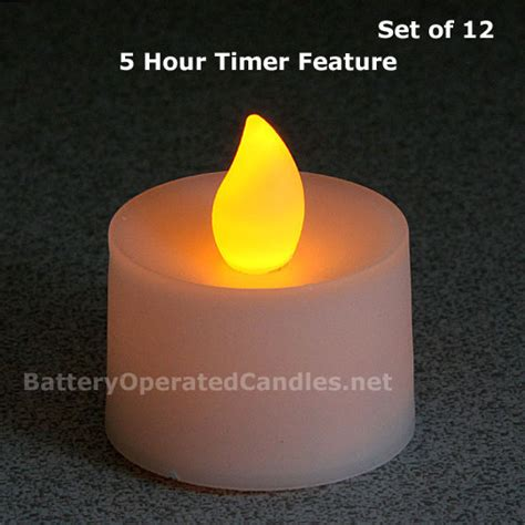 led tea lights with timer flameless tea lights led battery operated 12