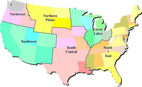 america map regions american regions images