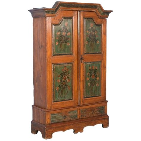 painted armoire for sale antique danish armoire with original painted panels with flowers for sale at 1stdibs