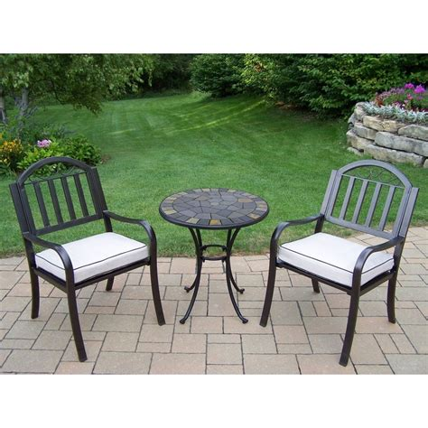 Shop Oakland Living Stone Art 3 Piece Stone Bistro Patio 3 Patio Dining Set