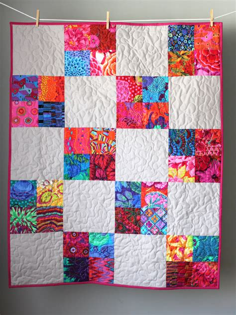 Patchwork Quilts For Babies - patchwork baby quilt baby quilt handmade modern by