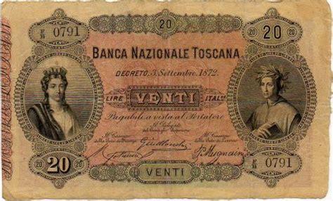 banco di firenze banconote lire